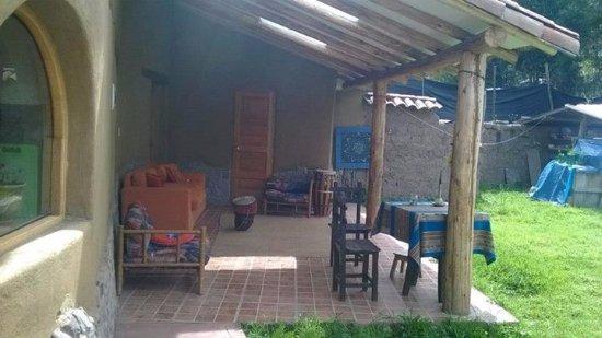 Calca, Perú: zona de comedor o area de terraza al aire libre