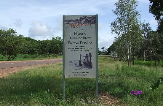 Adelaide River Railway Museum: open from 9am to 5pm - the sign say