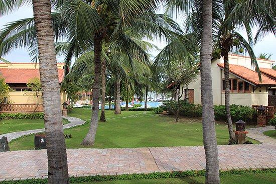 Pandanus Resort: Vue depuis la terrasse