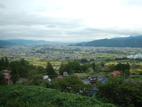 Chikuma, Japan: 從姨捨站往下望遼闊盆地