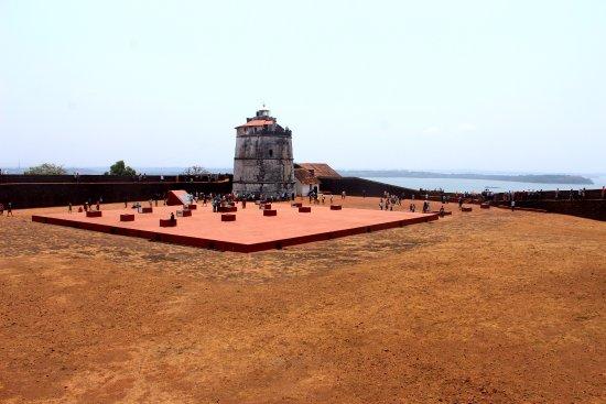 Sinquerim, India: TOP OF FORT AGUADA, GOA