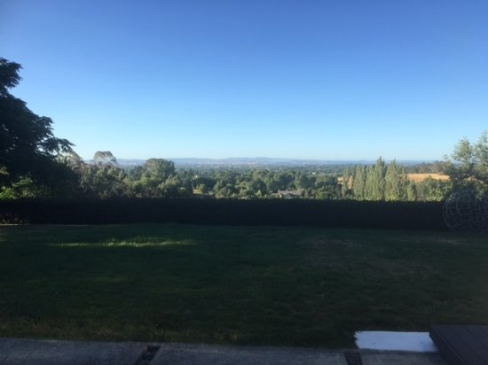 Looking out to Havelock North and beyond