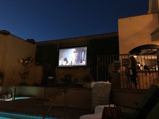 Andreas Hotel & Spa: Watching a movie by the pool