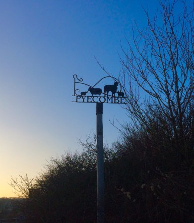 The White House: Pyecombe village sign