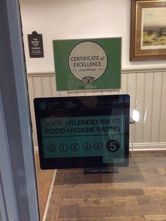 St. Asaph, UK: Bod Erw Hotel Restaurant