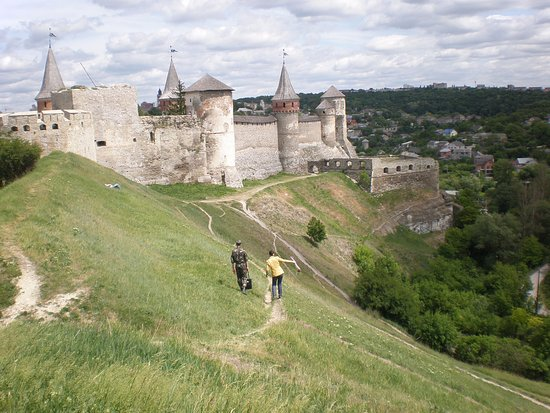 Kamianets-Podilskyi, Ucrania: The view from the New Fortress