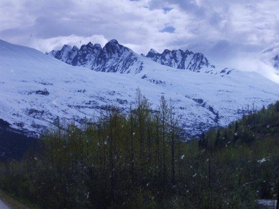 Valdez, AK: Worthington Glacier - veiws of the surrounding mountains and landscape near the glacier