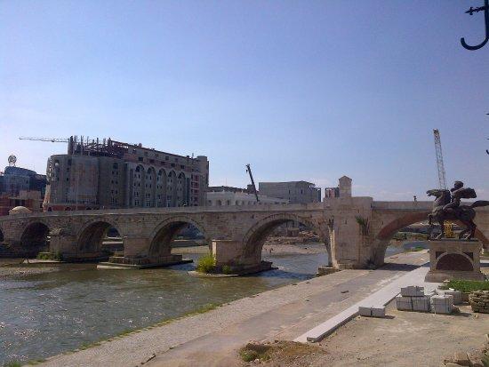 The Stone Bridge : Side view of the bridge.