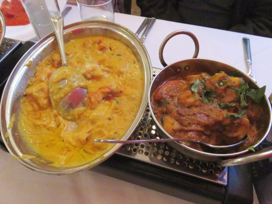 Butter Chicken & Bombay Aloo - Spices, Bromsgrove (15/Feb/17).