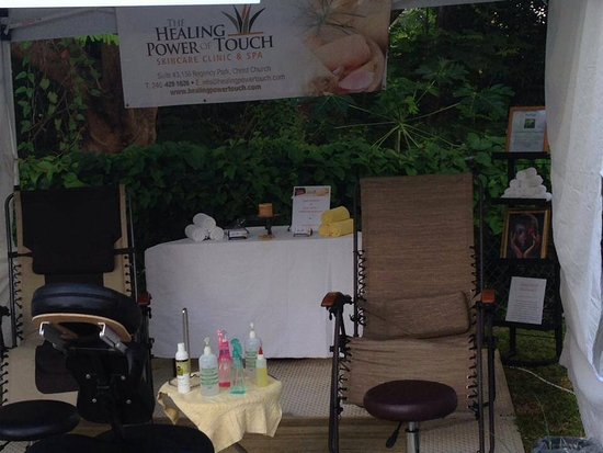 Christchurch, Barbados: Under our tent! Out & about mobile Spa team🌸