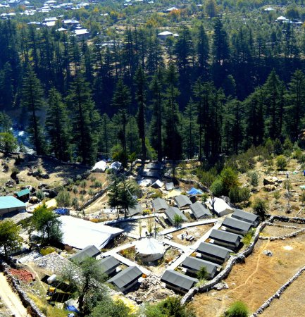 Kinner Camp Sangla: Ariel View of Kinner Camps