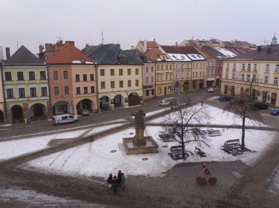 Hotel U Kralovny Elisky: widok z okna na 2p