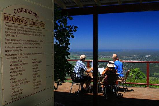 Beaumont, Australien: Vue depuis la terrasse de l'établissement