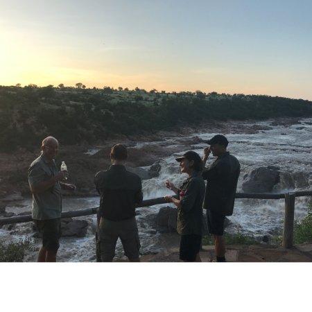 Chiredzi, Zimbabwe: Sun downers by the falls