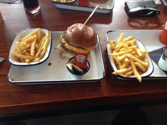 Salford, UK: double chips were a bit much