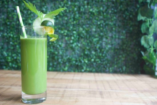 Nonie's: Lean and Green Juice, with fresh Malunggay, Calamnsi, Celery, Cucumber, Pineapple, Ginger and Ap