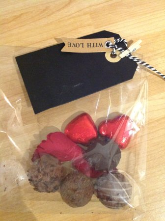 Swadlincote, UK: Chocolate truffles to take home with love from The Swan at Walton.