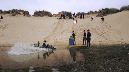 Curracloe, Ireland: Sandboarding at The Shack