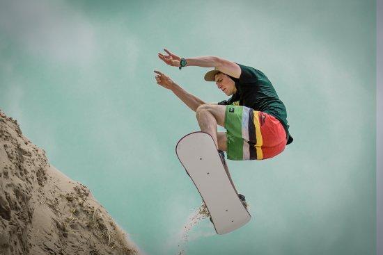 Curracloe, Irland: Sandboardingat The Shack