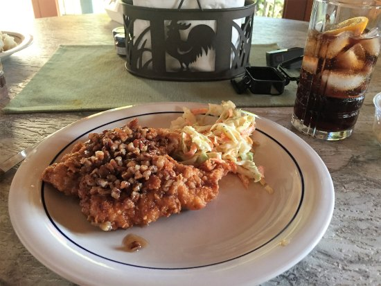 Coral Bay, St. John: Pecan honey chicken with coleslaw takeout