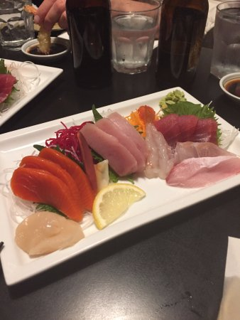 Sushi Village Japanese Cuisine: assorted sashimi - some of the freshest I've ever had!