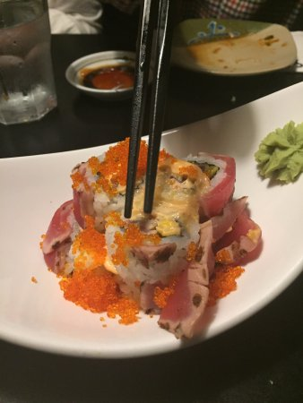 Sushi Village Japanese Cuisine: Volcano roll - spicy and amazing!