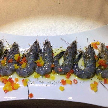 Musile di Piave, Italia: scampi crudi blu nuova caledonia