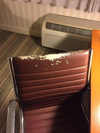 Four Points by Sheraton Columbus Ohio Airport: Desk chair that is falling apart