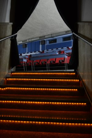 Mezdra, بلغاريا: The stairs to the theatre