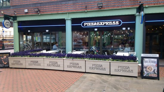 Exterior Of Pizza Express Brindley Place Picture Of Pizza