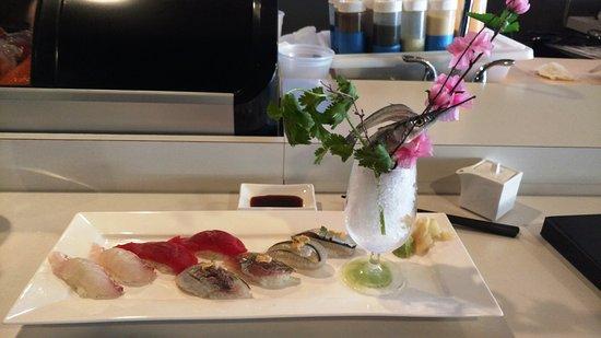 Troy, NY: Spectacular presentation of exotic sushi.
