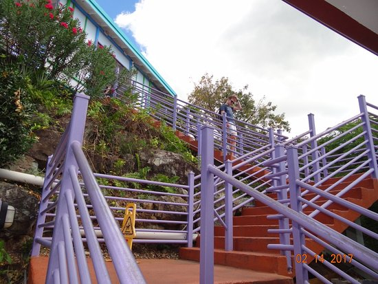 South Coast, St. Thomas: First set of three stairs at the top