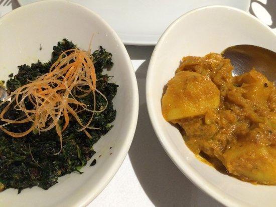 Deshi Spice: Saag bhaji, and bombay