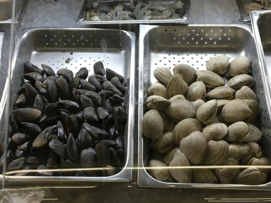 New Bedford, MA: Just gathered mussels and clams at DeMello's Market Photo by JEI