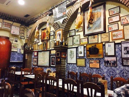Casa Puga's dramatic but cosy dining area.
