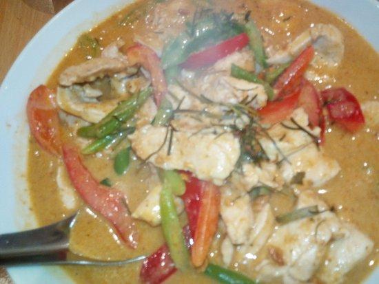 Thai Street Food: Green Chicken Curry.
