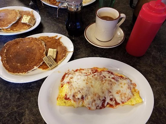 Pizza Omelet - Wagon Wheel Cafe, Chisago City