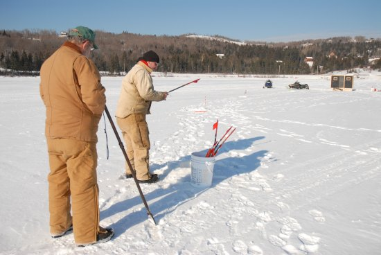 Pittsburg, NH: Lots of people come here in the winter to ice fish.