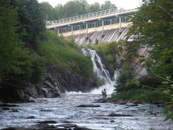 Pittsburg, NH: Tail water fishing below First Lake dam.