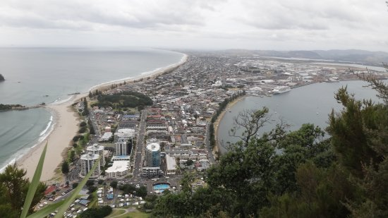 Mount Maunganui, New Zealand: View from top