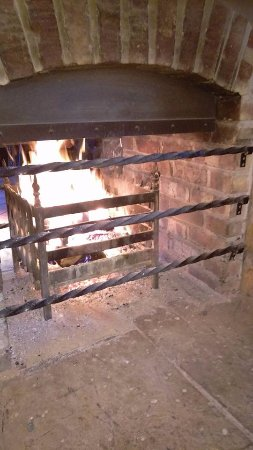 Balloch, UK : Fire place in bar
