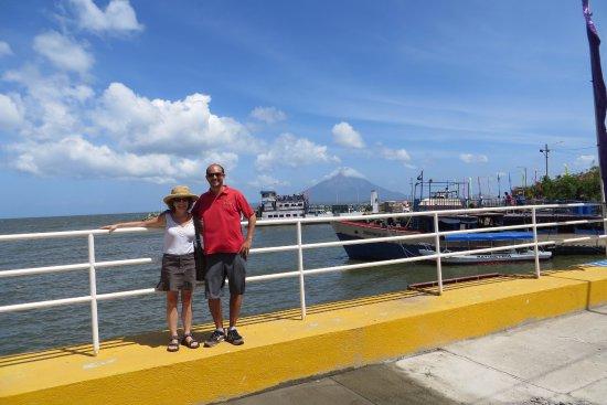 Departamento de Granada, Nicaragua: Pablo and me at the Ometepe ferry