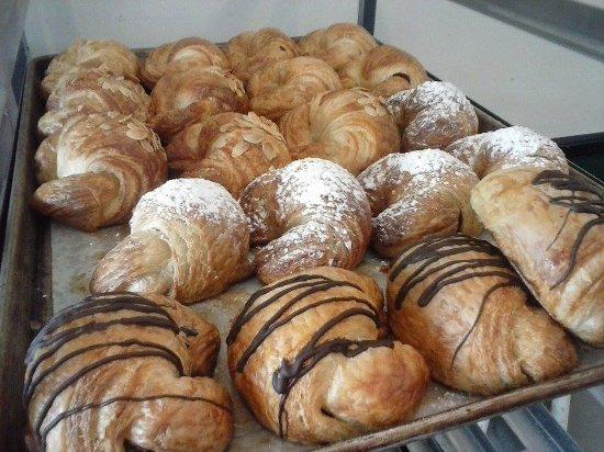 Brevard, NC: Nicks lovely croissants. Chocolate, cinnamon walnut, almond and plain