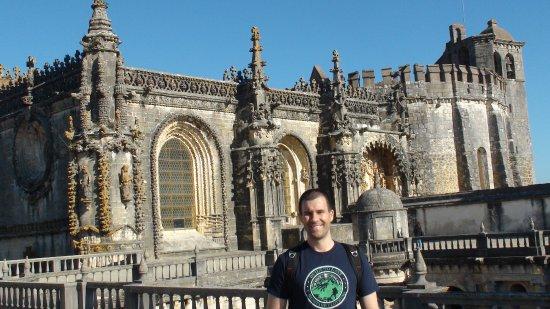 Tomar, Portugal: Ivan Mercadante Boscardin no Terraço de Cera do Convento de Cristo