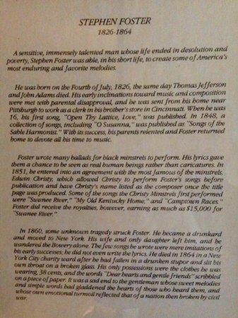 Kohler, WI: About Stephen Foster