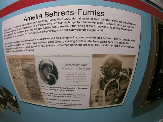 History of Diving Museum: Displays were well documented with names, dates, and places