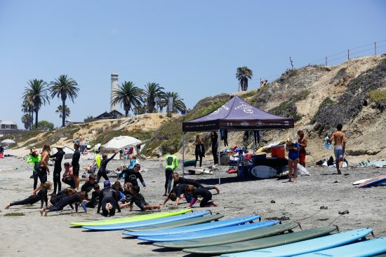 So much fun at Fulcrum's Summer Surf Camp at Powerhouse Park in Del Mar
