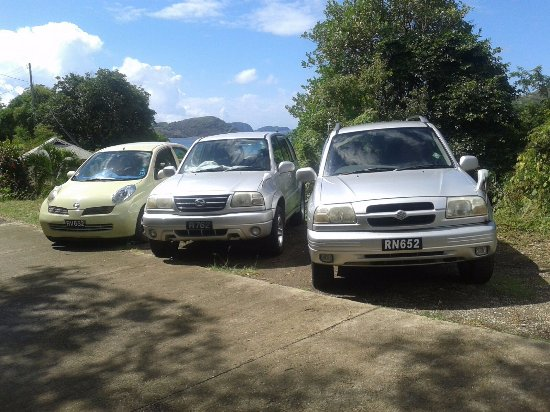 Bequia: A selection of rental vehicles