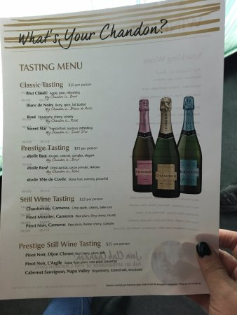 Yountville, Kalifornien: Very affordable tasting prices, and yes, you can share