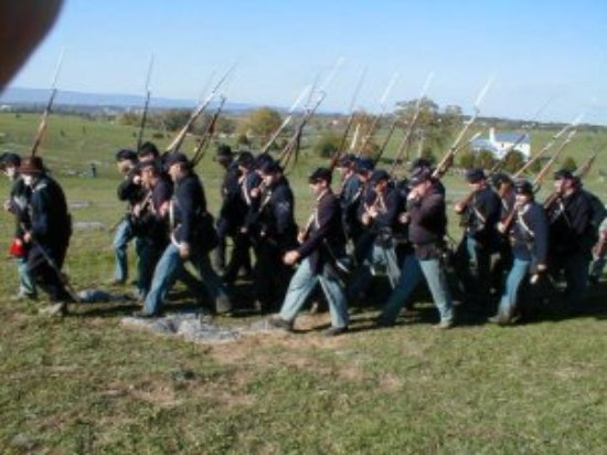 Middletown, VA: 15th NJ Marching Off The Battlefield